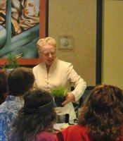 Rusty teaching wild plant class